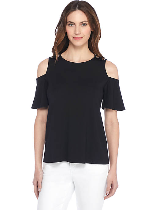 Cold Shoulder Jersey Tee