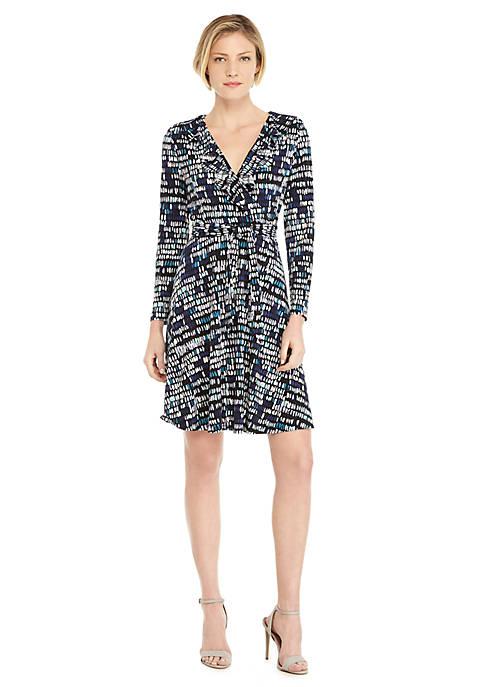 Petite 3/4 Sleeve Wrap Dress