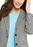 Petite 2 Button Blazer in Gingham