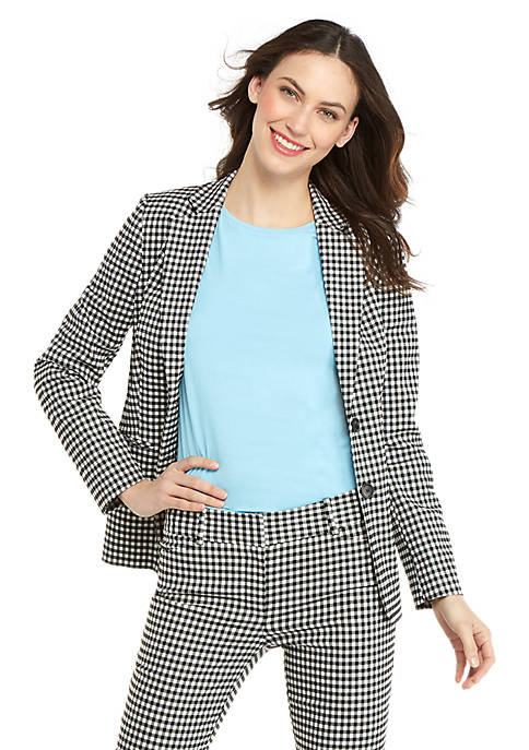 2 Button Blazer in Gingham