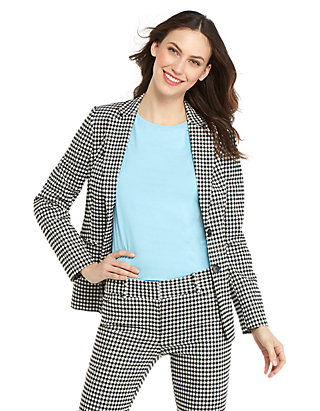 f3a312bf6854b 2 Button Blazer in Gingham | THE LIMITED