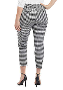 Plus Size Gingham Pants