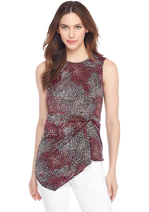 Sleeveless Ruch Knot Top