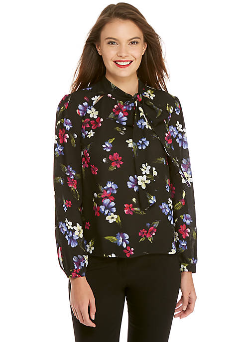 Bow Blouse with Cutouts
