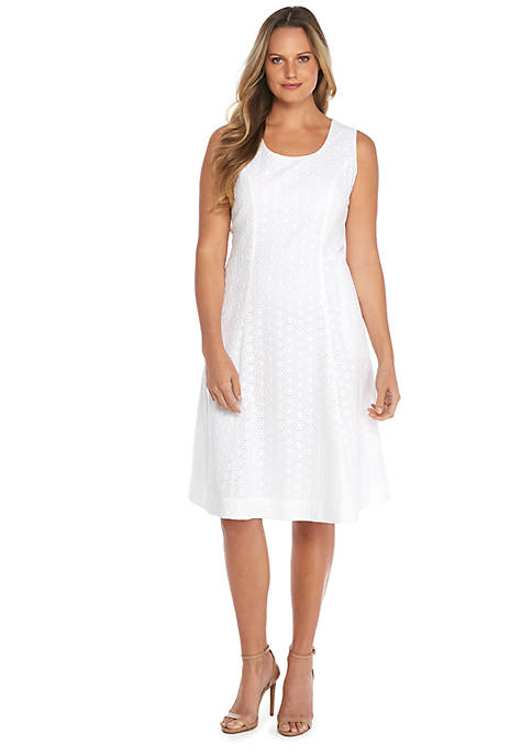 Plus Size Sleeveless Square Neck Cotton Dress The Limited