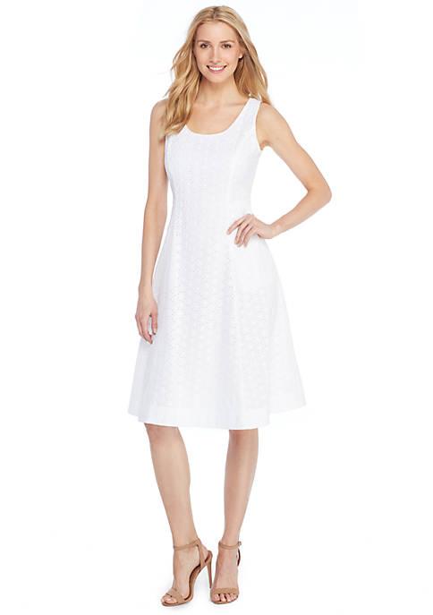 Sleeveless Square Neck Cotton Dress