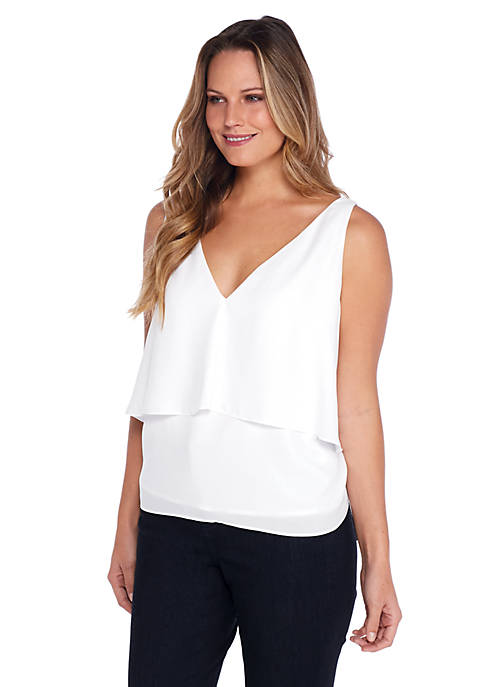 Plus Size Modern Tiered Sleeveless Top