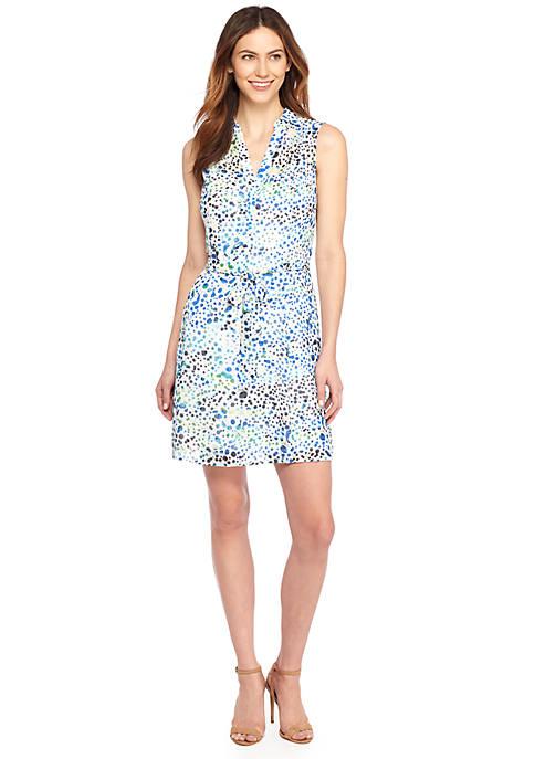 Sleeveless Collared Dress