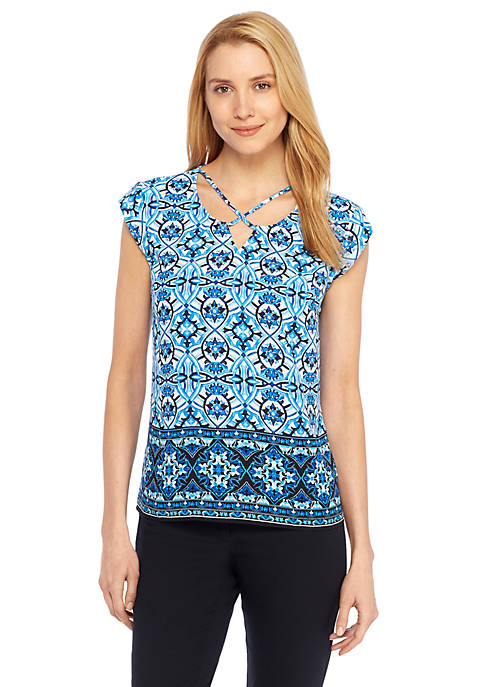 Cross Tie Neck Top