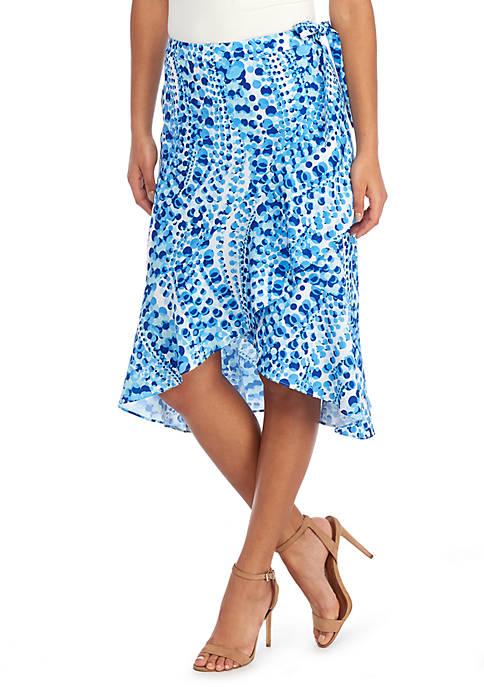 Knee Length Ruffle Front Skirt