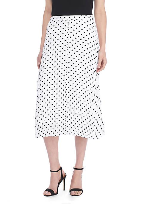 Petite Fluid Crepe Pleated Skirt