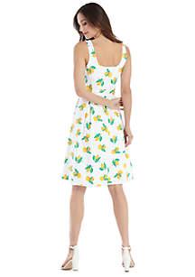 Sleeveless Tie Waist Dress