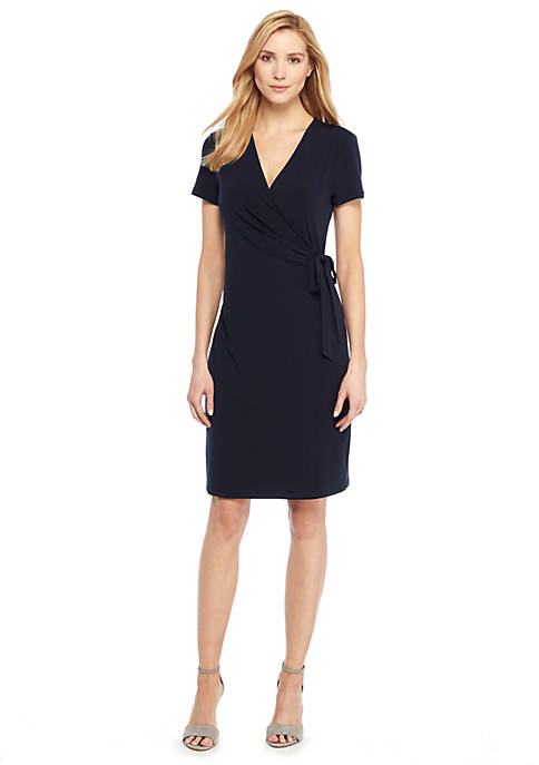 Short Sleeve Wrap Dress The Limited