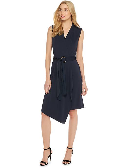 Sleeveless D-ring Belt Dress