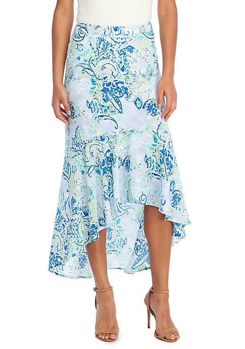 Fluid Crepe Maxi Skirt