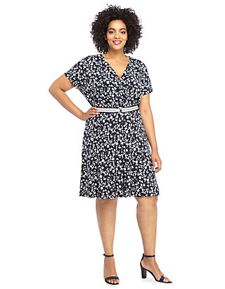 Plus Size Dress with Belt | THE LIMITED