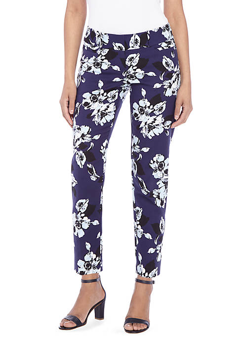 Floral Printed Ankle Pants