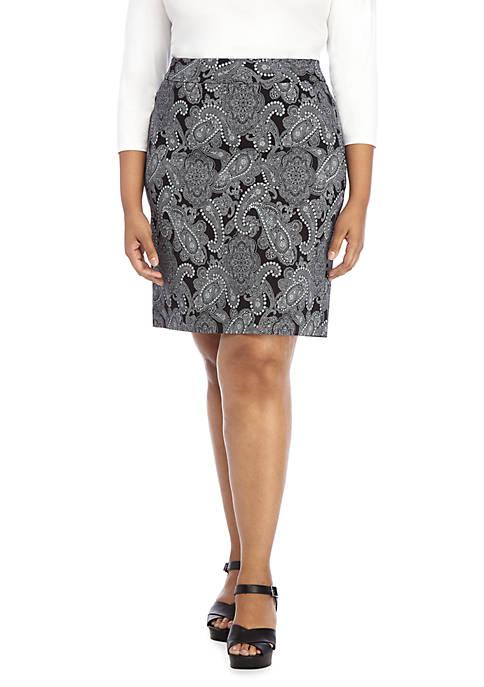 Plus Size Exact Stretch Pencil Skirt