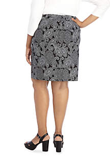 Plus Size Exact Stretch Pencil Skirt