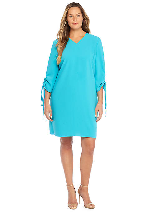 Plus Size Ruch Sleeve Dress