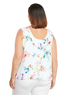 bce126e8020c1 Plus Size Sleeveless Ruffle Top