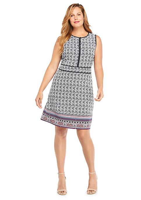 Plus Size Sleeveless Button Front Dress