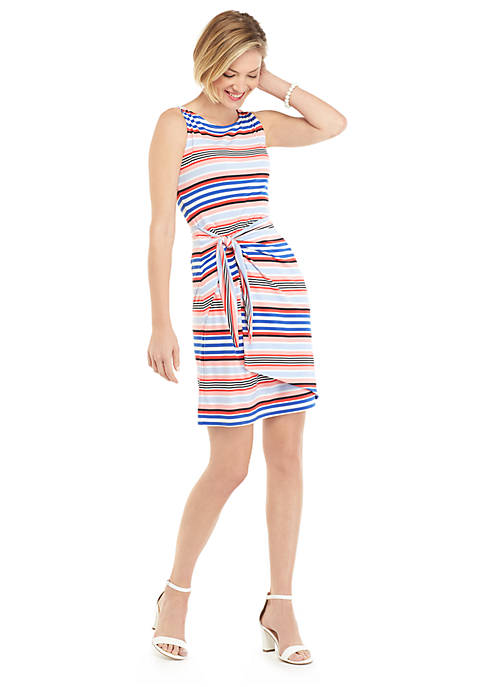 Sleeveless Sarong Tie Dress