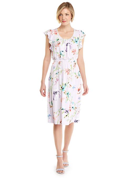 Petite Knitted Flutter Sleeve Dress