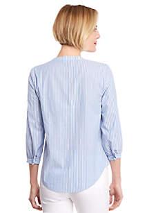 Petite Stripe Peasant Shirt