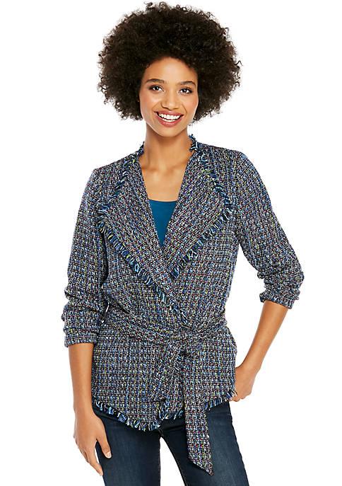 Petite Tweed Jacket with Tie