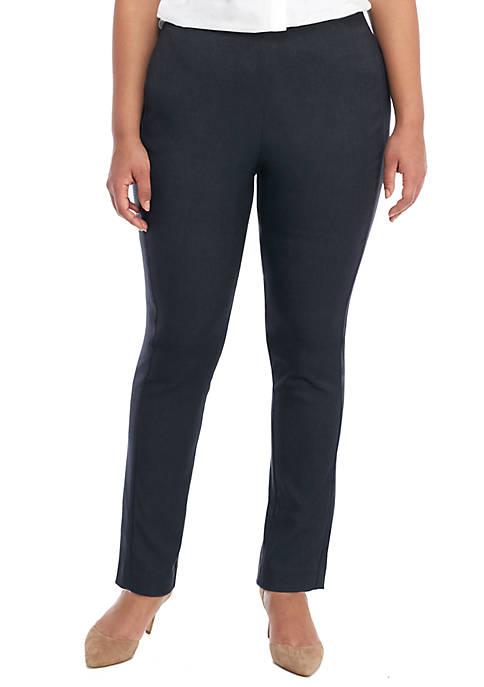 Plus Size Signature Pull-on Skinny Pant in Career Denim
