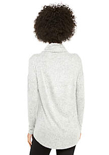 Petite Cozy Cowl Neck Pullover