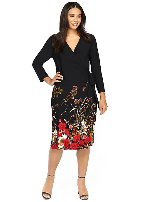 Plus Size Printed Wrap Dress The Limited