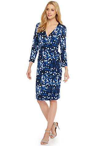 b21427cc7a38 Petite Printed Wrap Dress | THE LIMITED