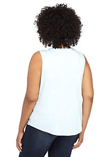 Plus Size Basic Scoop Shell Top