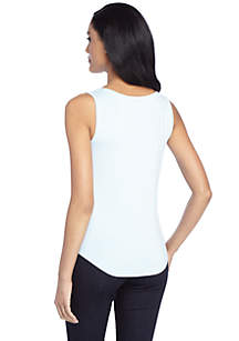 Petite Basic Scoop Neck Tank