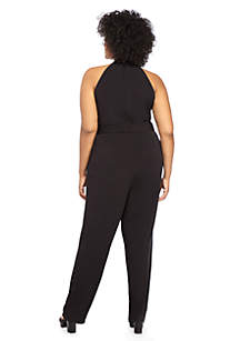 Plus Size Halter Jumpsuit