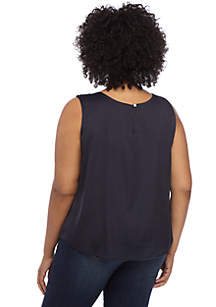 Plus Size Satin Shell Top