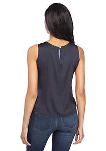 Petite Satin Back Shell Top