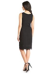 Lace Trim Shift Dress