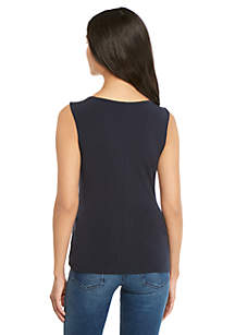 Petite Side Ruched Shell Top