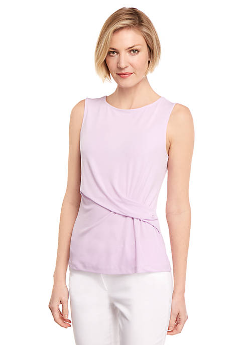 Side Ruched Shell Top