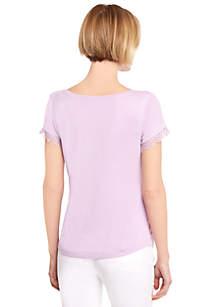 Lace Trim T Shirt