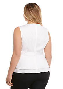 Plus Size Cotton Sleeveless Top