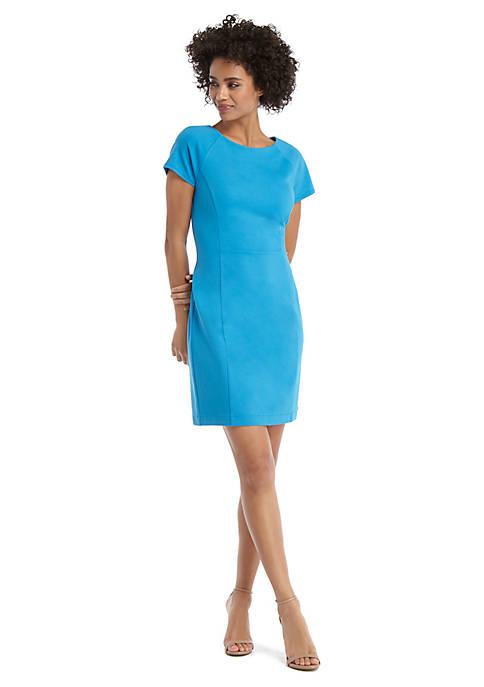 Short Sleeve Ponte Dress
