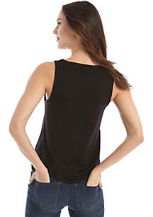 Sleeveless Lace Up Grommet Top