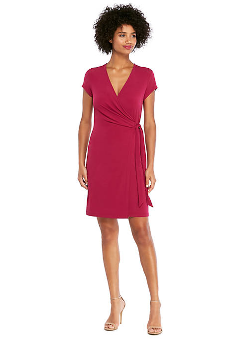 Petite Short Sleeve Wrap Dress