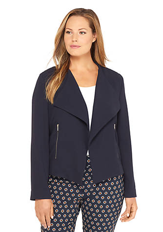 354e0f842186f Plus Size Drape Front Jacket | THE LIMITED