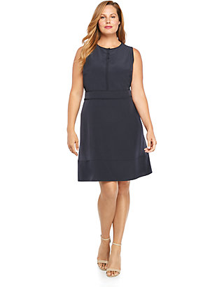 Plus Size Sleeveless Button Front Dress | THE LIMITED