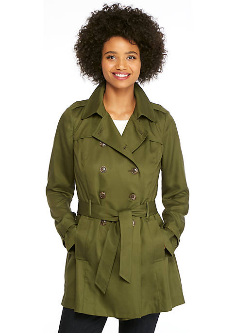Petite Tencel Twill Trench Coat